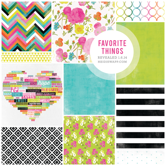 Heidi Swapp CHAW2014SneakPeeks_FAVORITETHINGS_blog