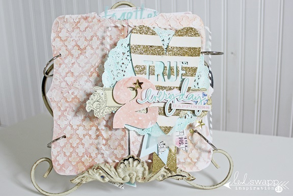 My True 2- Mixed Media Kit Album by Sarah Bargo @sarahbargo @heidiswapp #heidiswapp #scrapbooking #mixedmedia #minialbum