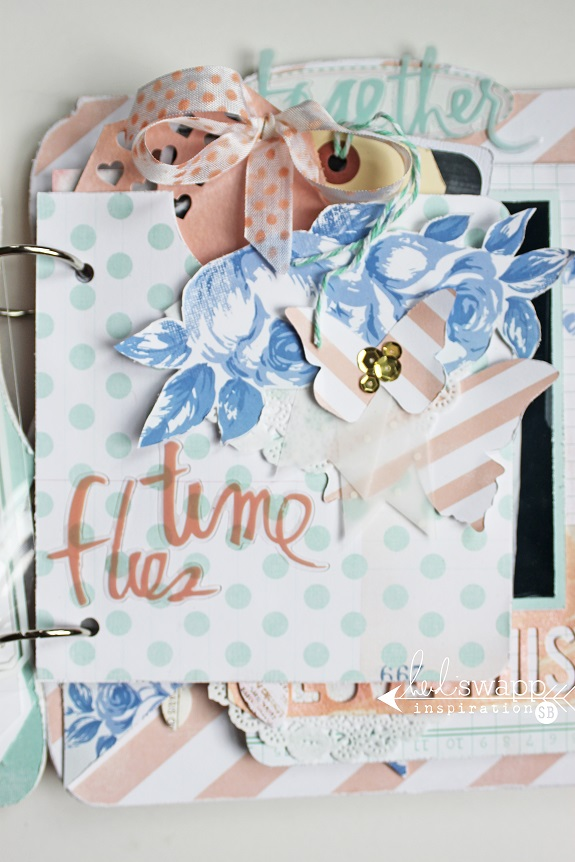 My True 2- mixed media album by Sarah Bargo @sarahbargo @heidiswapp #heidiswapp #scrapbooking #mixedmedia #minialbum