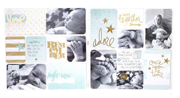 Project Life spread by @sarahbargo using the new @heidiswapp #projectlife products! #heidiswapp