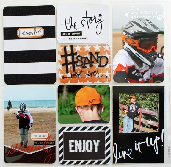 Project Life Page by @sarahbargo for @heidiswapp using the #hsprojectlife Glitter Value Kit! #scrapbooking #projectlife