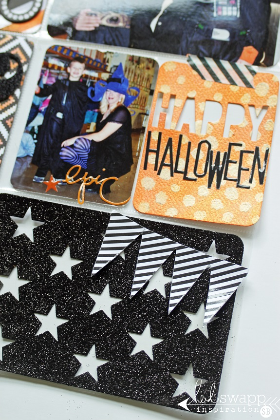 A Project Life Layout by @sarahbargo for @heidiswapp using the #hsprojectlife Color Magic Value Kit! #hsprettypockets #heidiswapp #halloween #scrapbooking