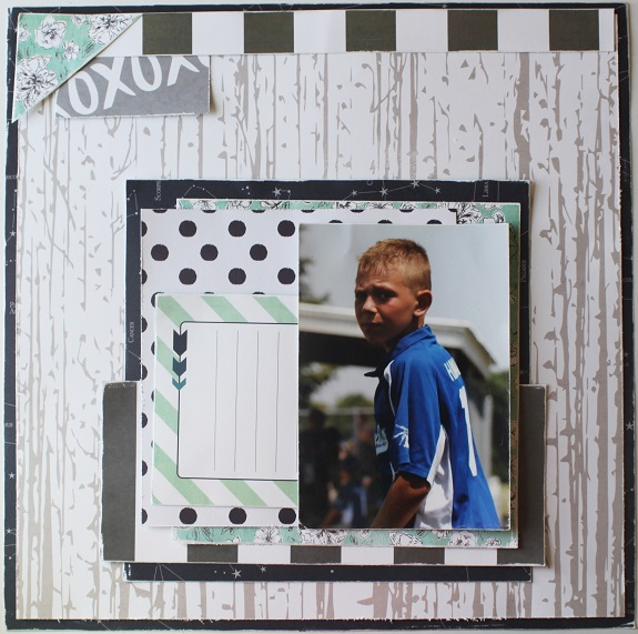 A layout by @sarahbargo for @hkswapp using September Skies #heidiswapp #scrapbooking #hsseptemberskies