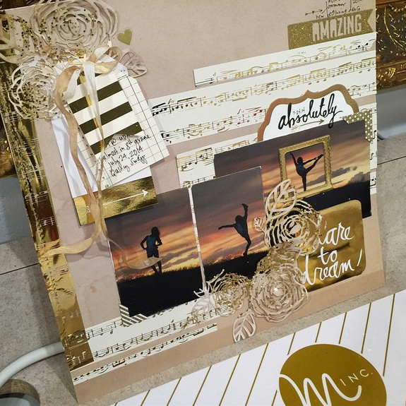 Wanderlust with a Touch of Gold @heidiswapp #heidiswapp #hsMinc #hsWanderlust #gold #foil #scrapbook