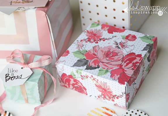 Handmade gift boxes by @sarahbargo for @heidiswapp using the We R Memory Keepers Gift Box Punch Board! #WRMK #heidiswapp #hsMinc #giftboxes #prettypackaging #giftwrap #handmade