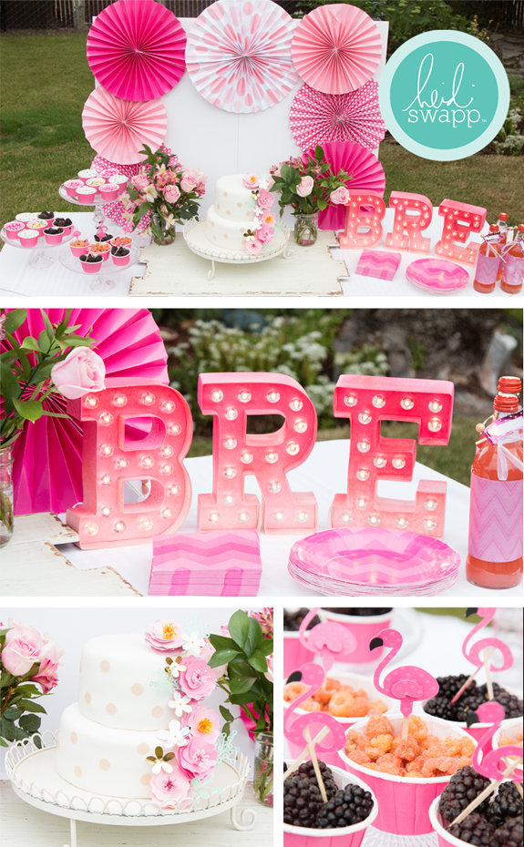 The sweetest girl's birthday party using both my @heidiswapp Minc and Marquee Love collections