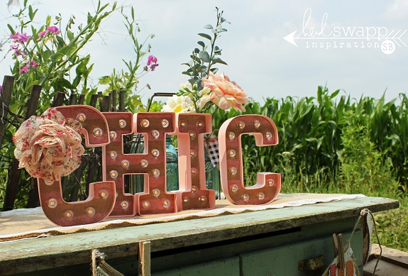 "Marquee Love Letters~ ""Farm Chic"" Style! by @sarahbargo for @heidiswapp"