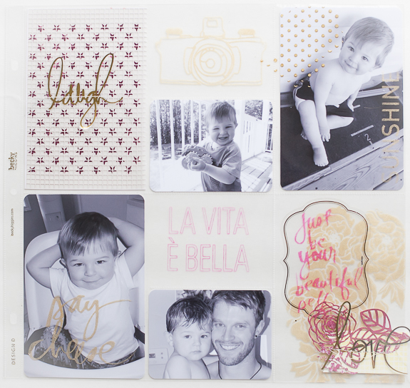 Mixed Media Project Life layout using brand new mixed media @heidiswapp products available at @michaelsstores