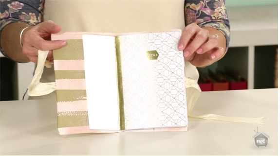 DIY fabric book covers with notebook inserts by @heidiswapp