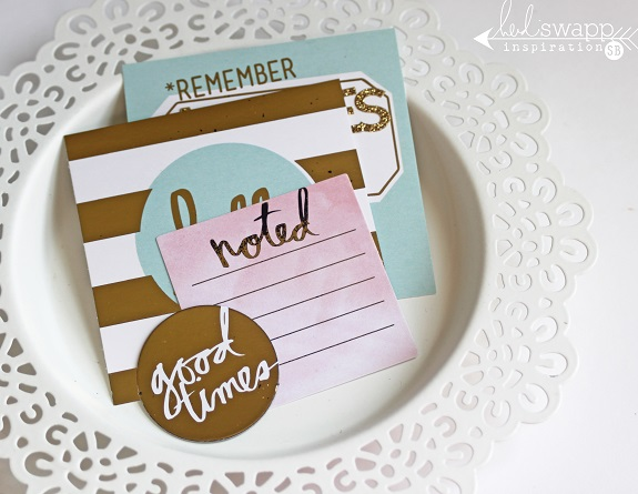 Mini Minc Embellishments! by @sarahbargo for @heidiswapp