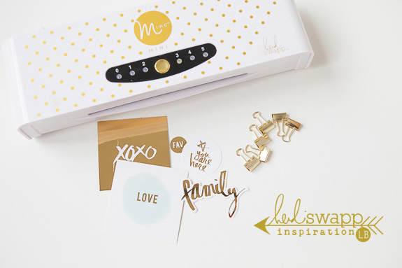 The Heidi Swapp Mini MINC is fabulous for adding foil touches to your planner. It is small and compact enough to fit perfectly on your work space and is just the right size to pack around on your travels or to crop nights!