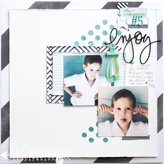 Celebrate a scrapbook story with new colorful Michaels Stickers from Heidi Swapp. @jamiepate for @heidiswapp