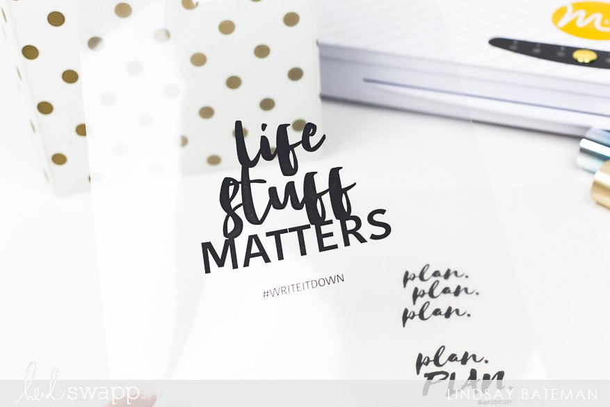 Create Transparent Dashboard Planner Folders using your MINC Machine @lindsaybateman for @heidiswapp