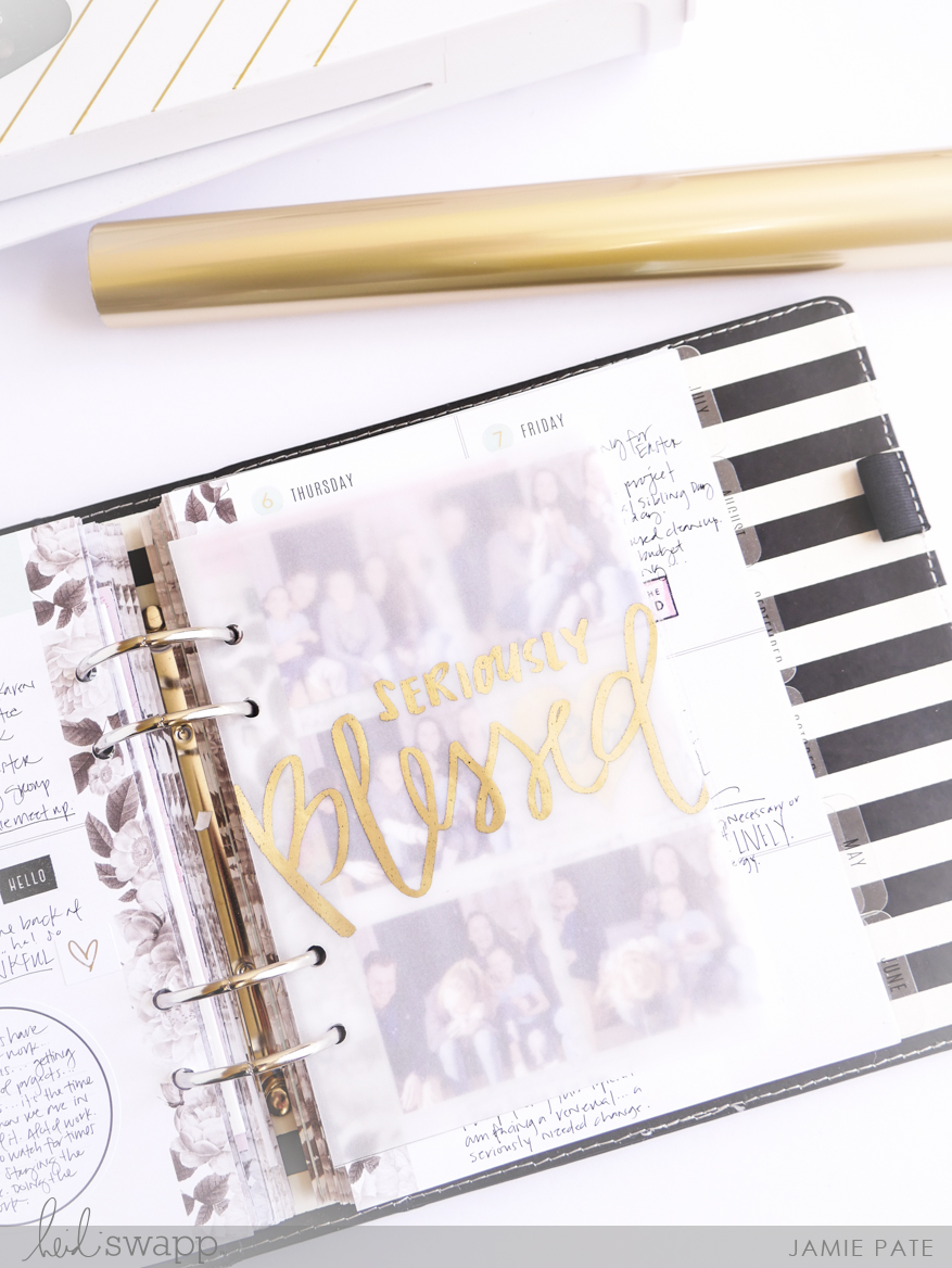 Minc It Monday ~ Planner Page | @jamiepate for @heidiswapp