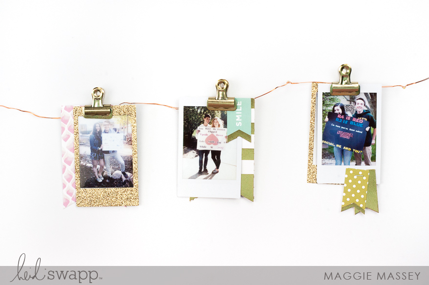 Decorate for your next party with the new Heidi Swapp Instax Light Banner! | Maggie Massey for Heidi Swapp