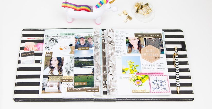 Heidi Swapp Memory Planner Finished Pages by @createoften for @heidiswapp
