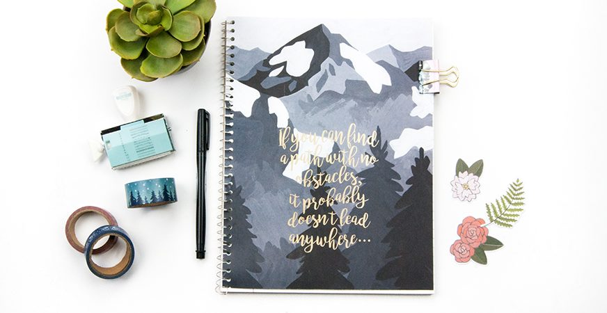 Revitalize those old notebooks with a Minc Foiled Cover | Minc It Monday | Maggie Massey for Heidi Swapp
