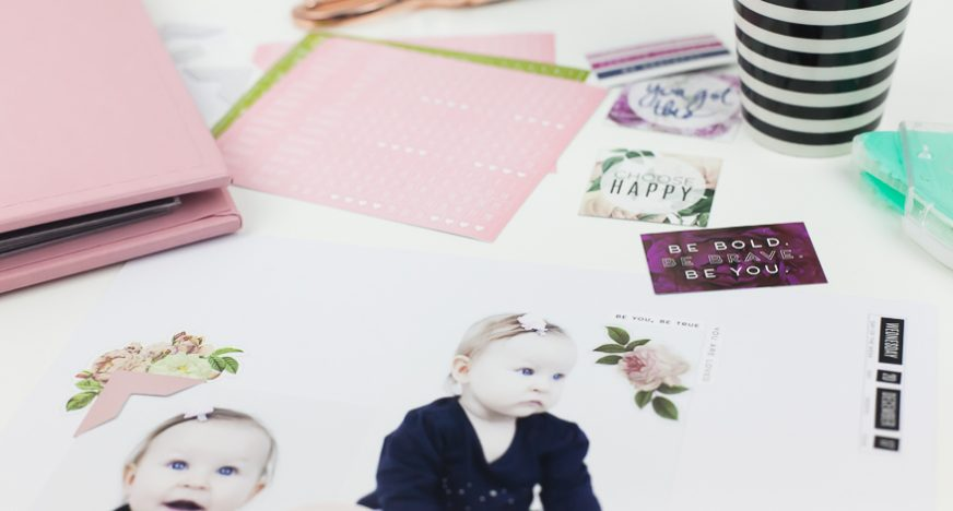 storyline baby s first year album heidi swapp