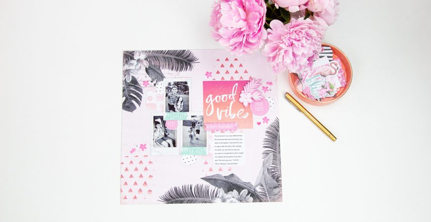 Mixed Media Made Easy | Scrapbooking with @heidiswapp Pineapple Crush by @createoften