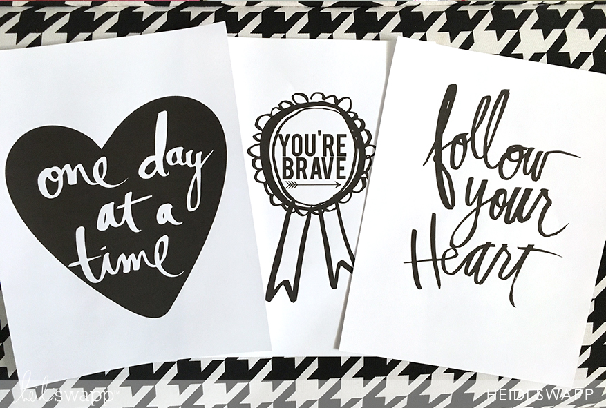 Free download printable to foil for your @heidiswapp Minc. Perfect for Gallery Wall