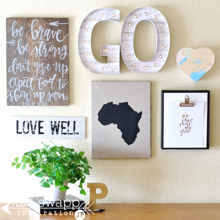 Inspirational Wall with Marquee Letters | @jamiepate for @heidiswapp