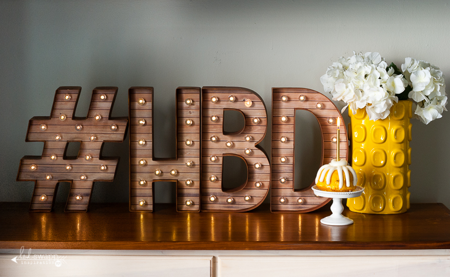 """12"""" Marquee Love #HBD   @MaggieWMassey for @HeidiSwapp"""