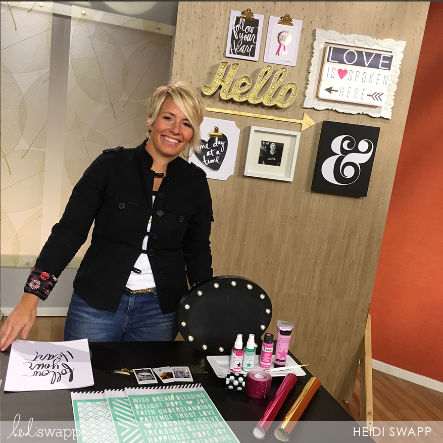clipboards and magnetic clips make changing gallery wall content like @heidiswapp