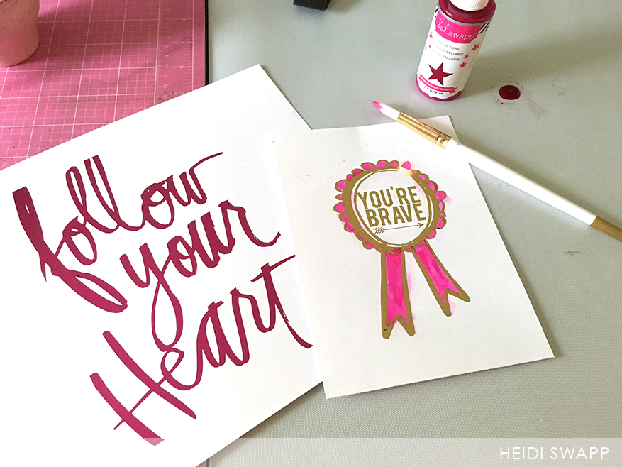 add color to @heidi swapp freebie printables with colored foil or color shine