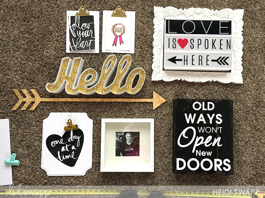 keep gallery wall fresh with clipboards and @heidiswapp lightbox