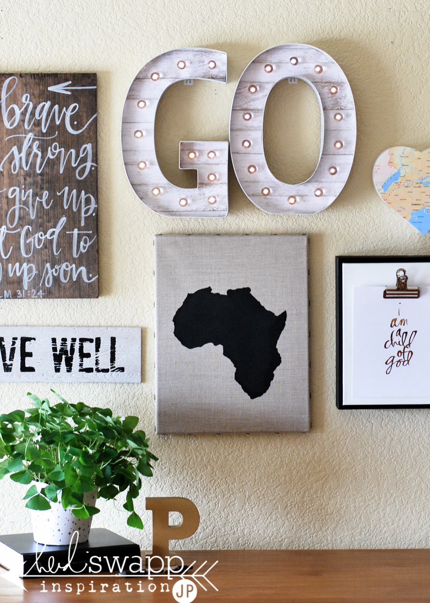 Inspirational Wall with Marquee Letters   @jamiepate for @heidiswapp