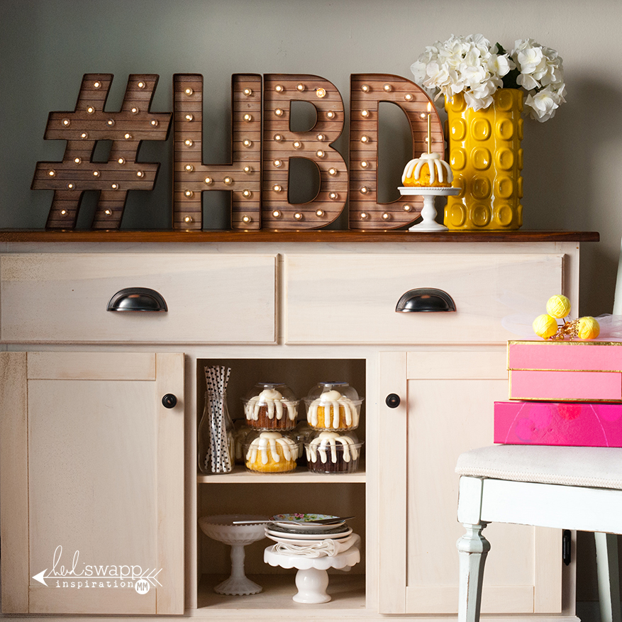 """12"""" Marquee Love #HBD 
