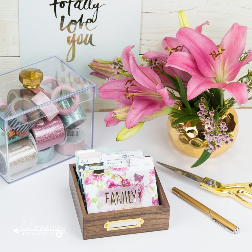 How to create a @heidiswapp MemoryDex tray perfect for addresses, birthdays, prayer box and more by @createoften