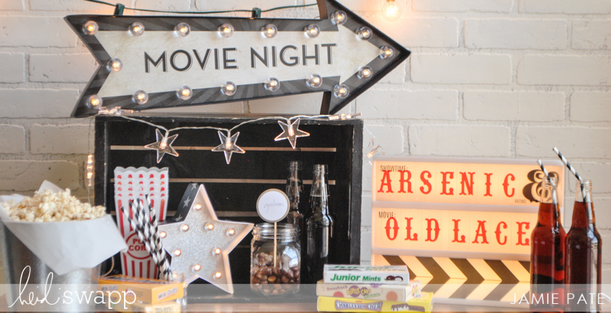 Celebrate Movie Night in Lights | @jamiepate for @heidiswapp