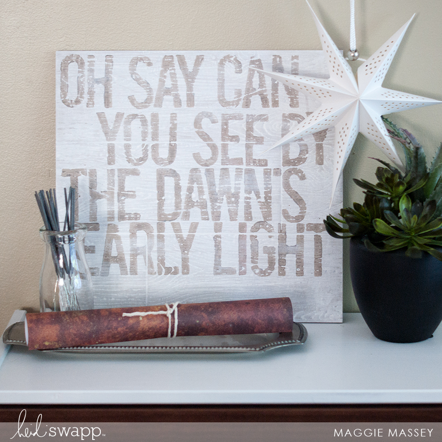 July 4 Gallery Wall Painted Sign | @MaggieWMassey for @HeidiSwapp