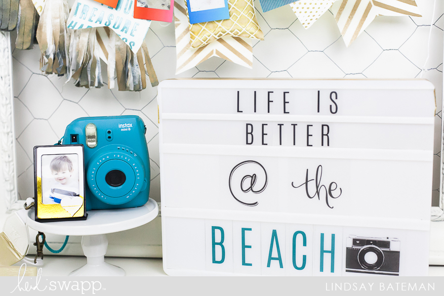 Using Texture Paste and Stencils to create a Summer Banner I @lindsaybateman for @heidiswapp