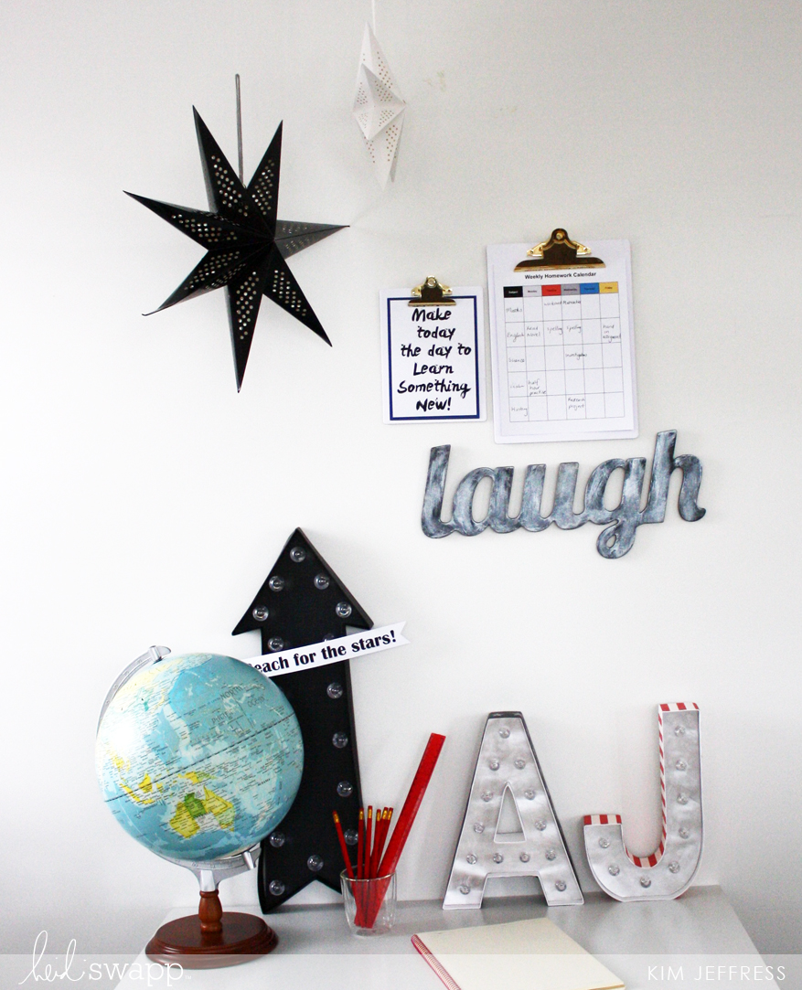 Boys homework station using Gallery Wall collection
