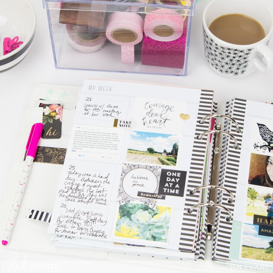 Memory Planner page inspiration and how to print an Instax by @createoften for @heidiswapp