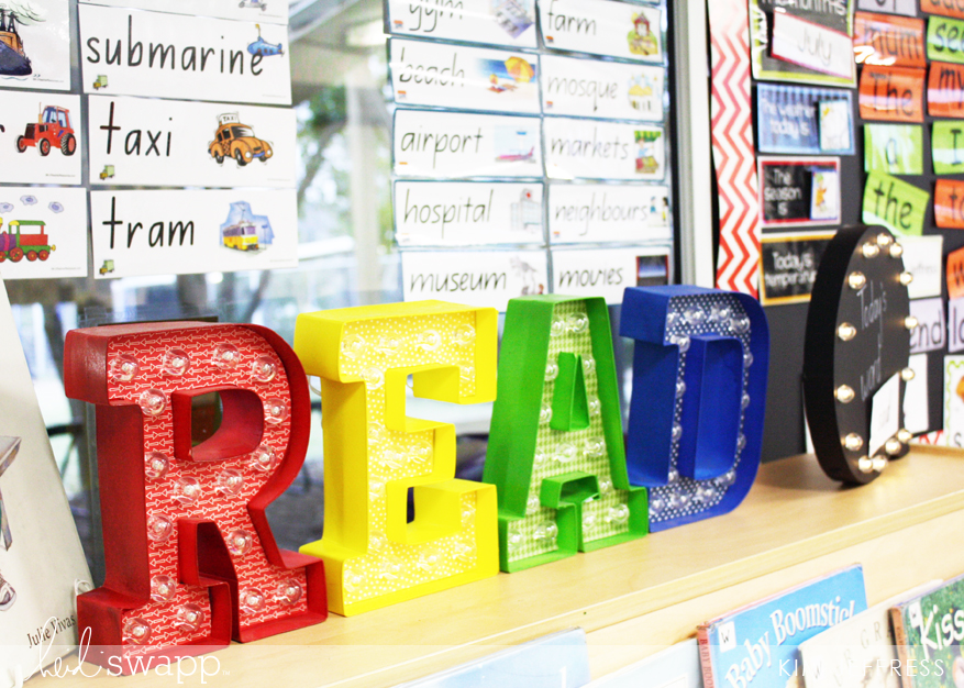 Classroom tour with the Heidi Swapp Marquee