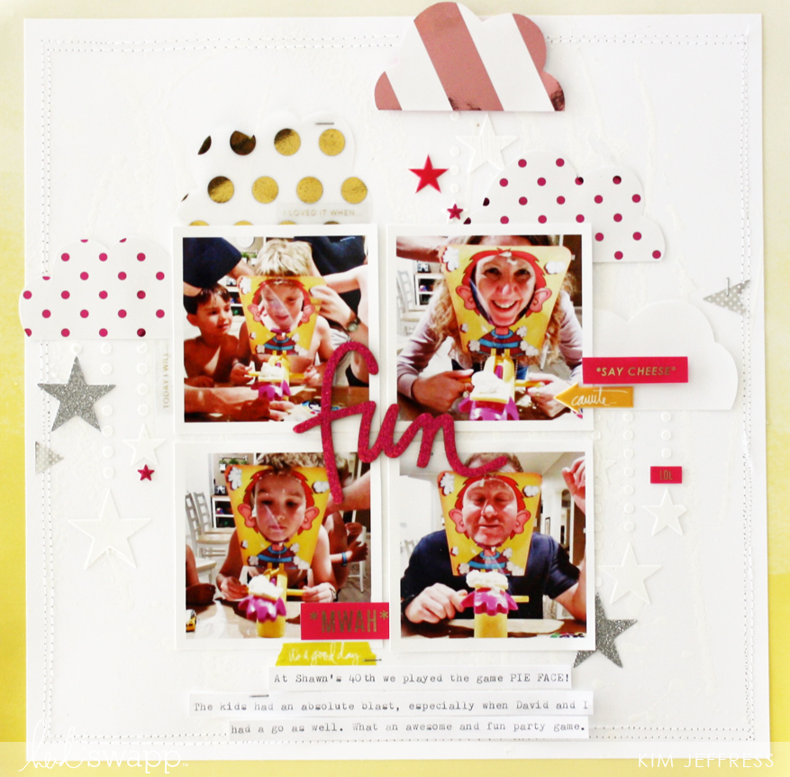 Create a subtle Minc background with Reactive Mist and foil @kimjeffress for @heidiswapp