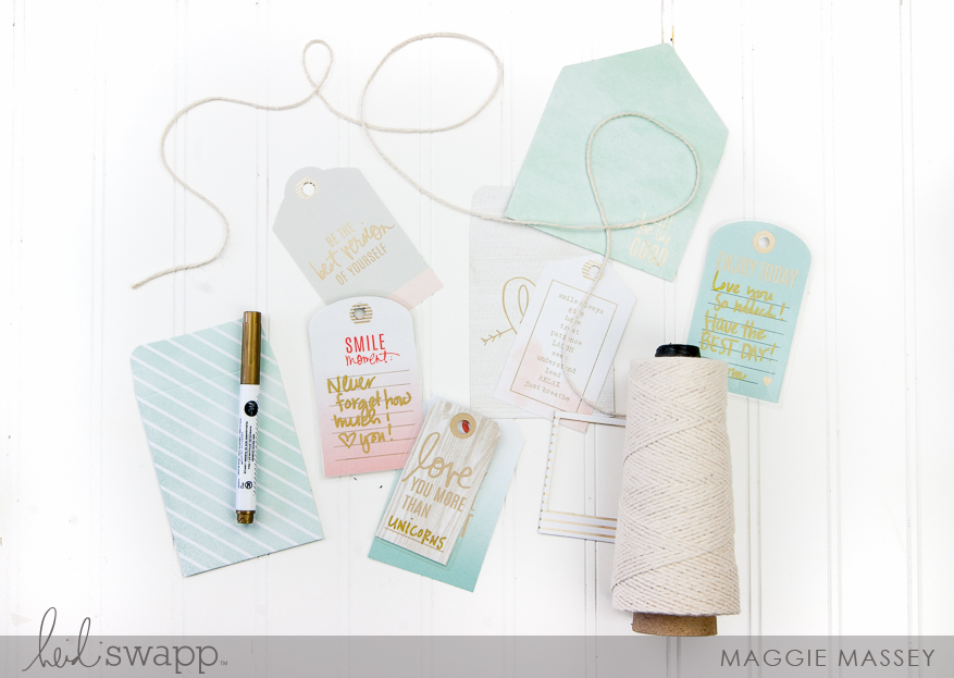 Minc Mixed Media - Lunch Box Notes | @MaggieWMassey for @HeidiSwapp