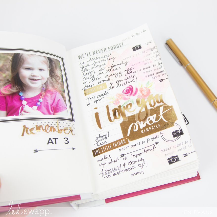 Memory Keeping made easy with photo journals by @createoften for @heidiswapp