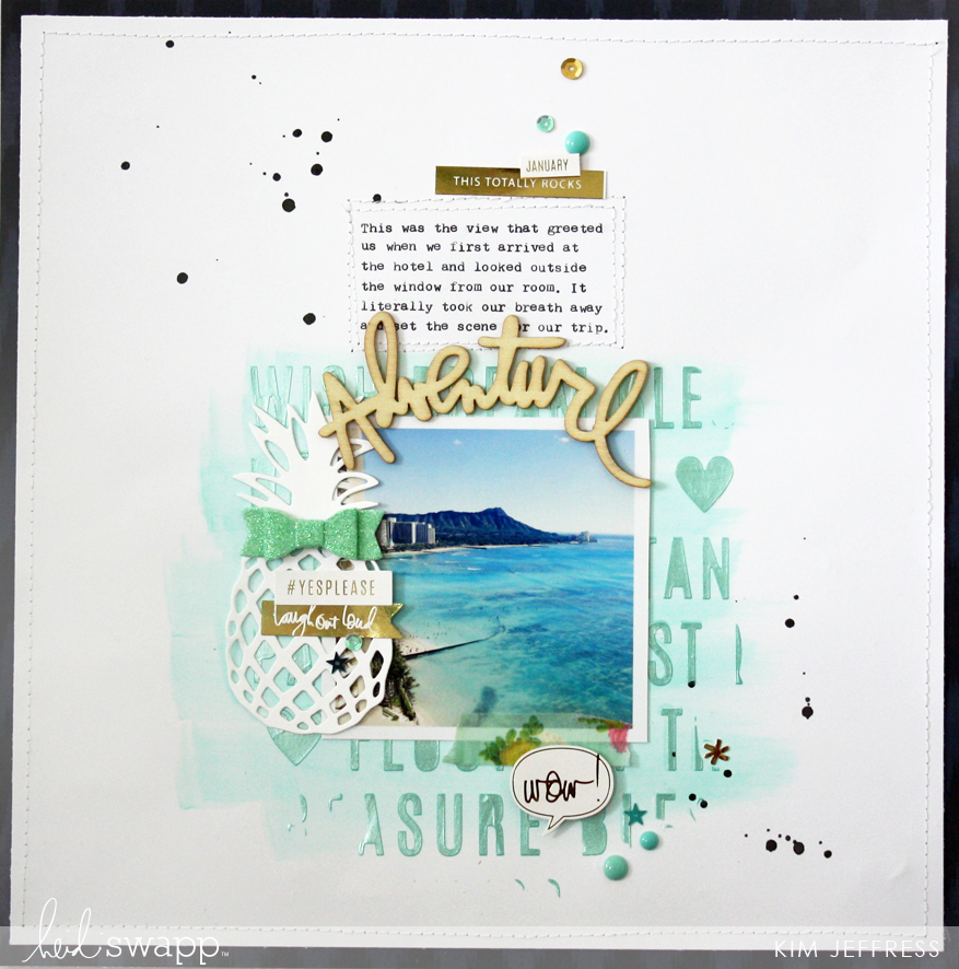 Kim Jeffress for Heidi Swapp Mixed Media layout
