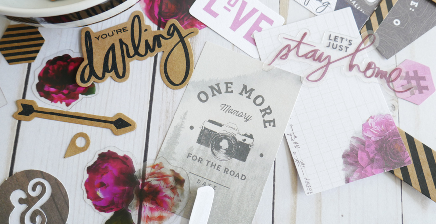 How To Embellish with Heidi Swapp Hawthorne Ephemera by Jamie Pate | @jamiepate for @heidiswapp