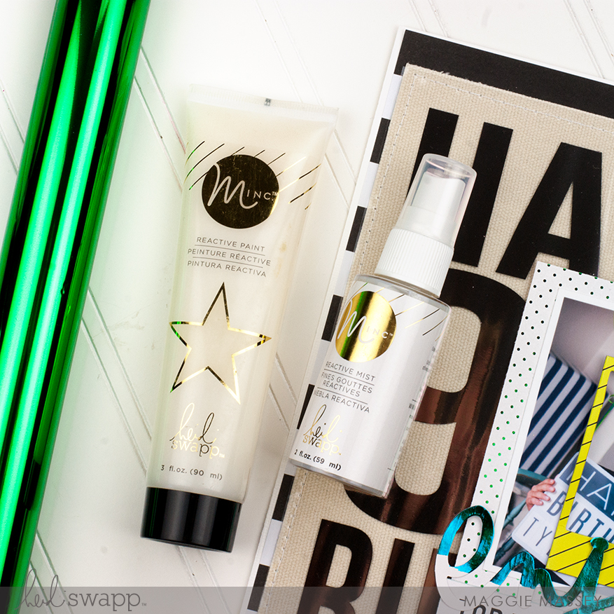 Scrapbooking with the Minc Reative Media | @MaggieWMassey for @HeidiSwapp