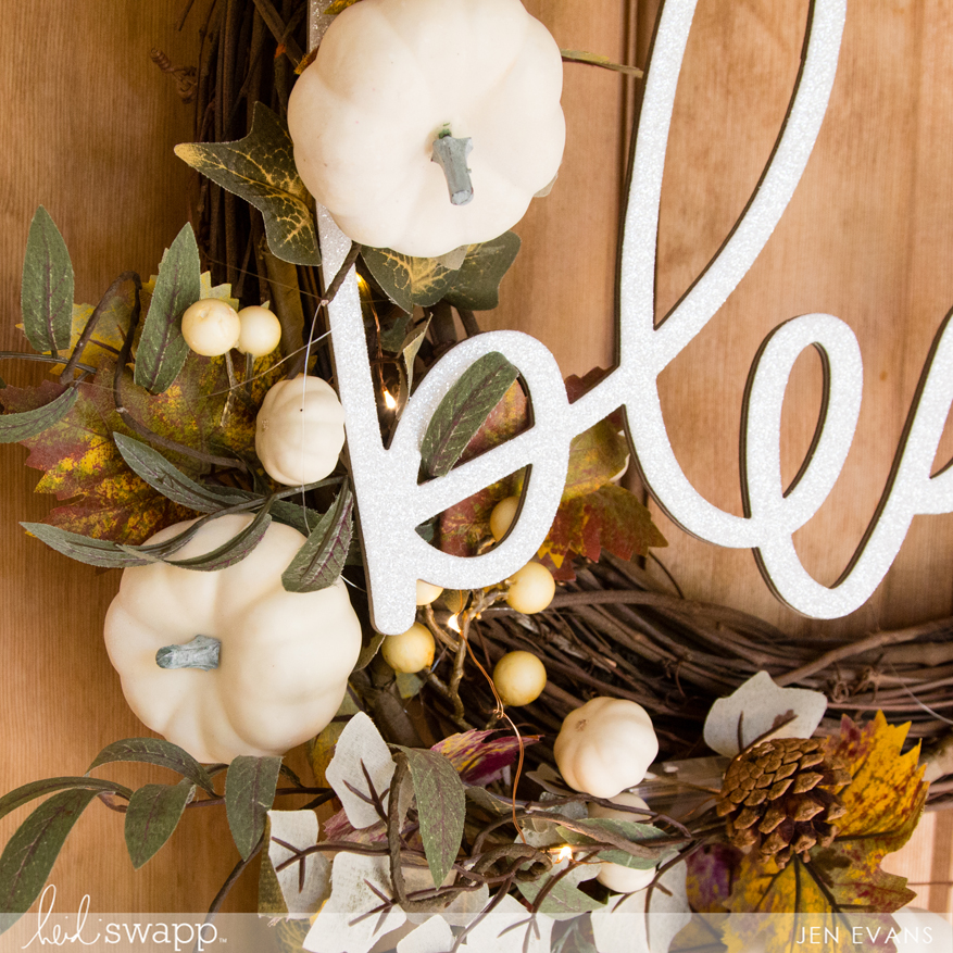 Farmhouse Inspired blessed wall word fall wreath by @createoften for @heidiswapp