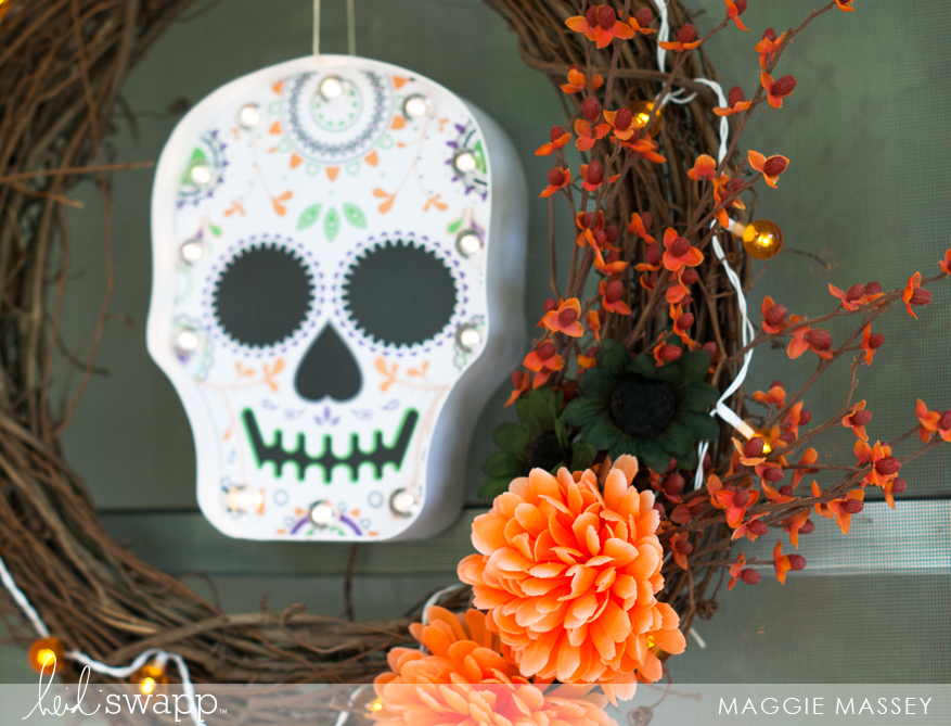 Halloween Decor | Heidi Swapp Marquee Love Sugar Skull Wreath