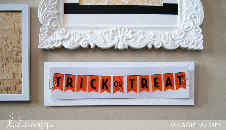 Marquee Love Halloween + My Gallery Wall Update | @MaggieWMassey for @HeidiSwapp