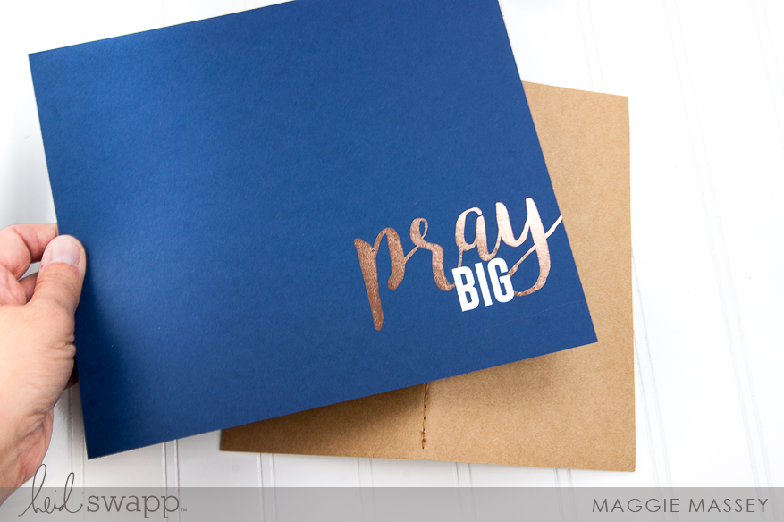 Using 2 Foil Colors - Heidi Swapp Minc :: a Prayer Journal | @MaggieMassey for @HeidiSwapp