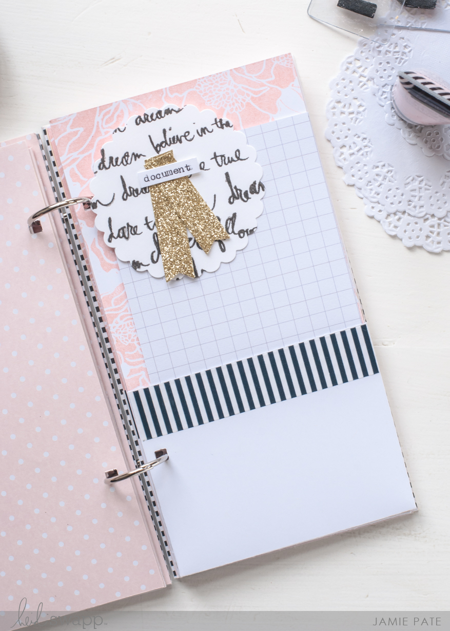 Create a Thanksgiving Day Book with Heidi Swapp Gallery Wall Mixed Media by Jamie Pate | @jamiepate for @heidiswapp