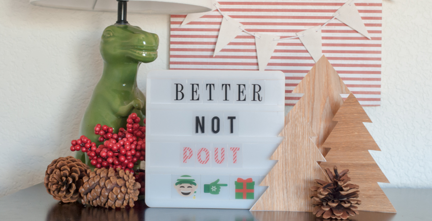 Ya Better Not Pout Heidi Swapp Mini Lightbox by Jamie Pate | @jamiepate for @heidiswapp